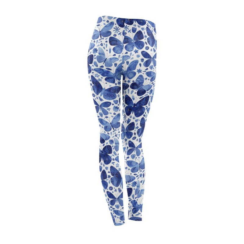 Blue Watercolor Butterflies Women's Bottoms by Nic Squirrell