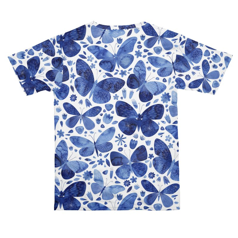Blue Watercolor Butterflies Women's Cut & Sew by Nic Squirrell