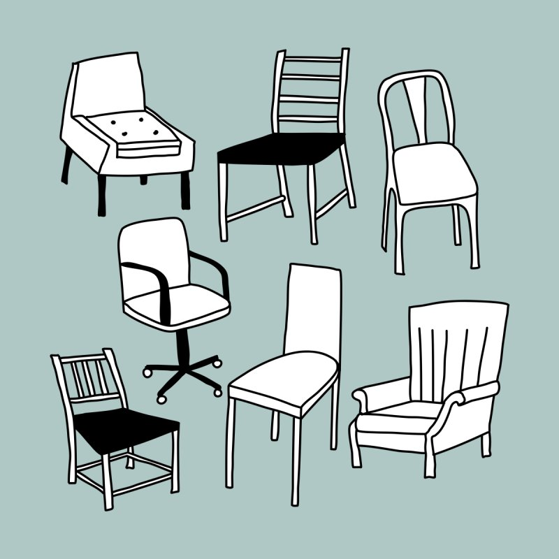 Chairs Men's T-Shirt by Nic Squirrell