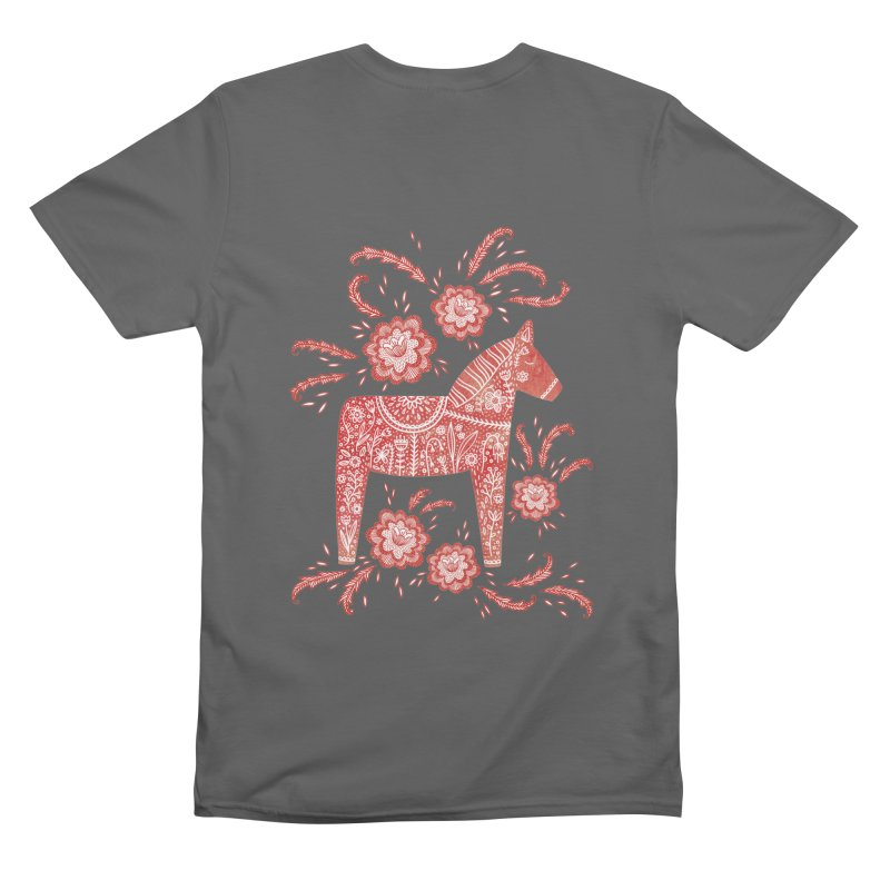Swedish Dala Horse Men's T-Shirt by Nic Squirrell
