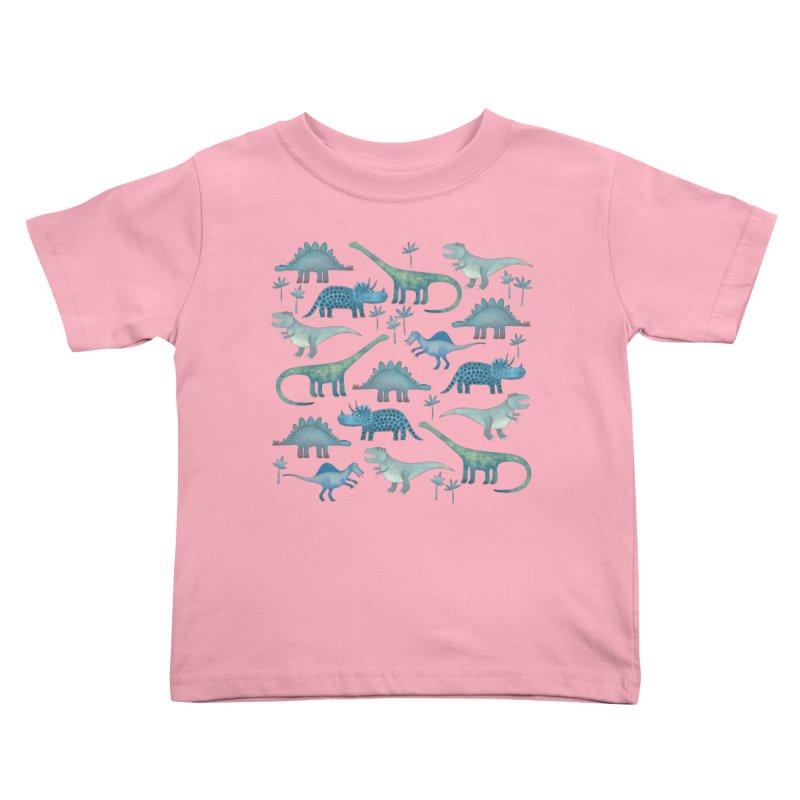 Dinosaurs Dark Kids Toddler T-Shirt by Nic Squirrell