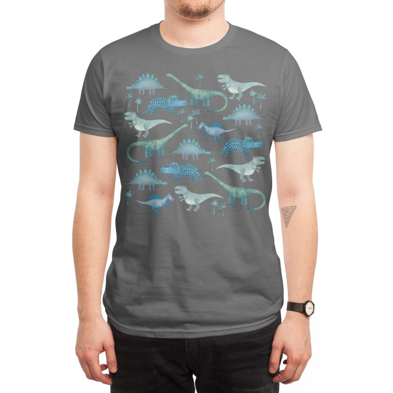 Dinosaurs Dark Men's T-Shirt by Nic Squirrell