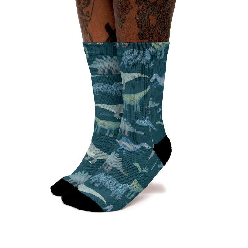 Dinosaurs Dark Women's Socks by Nic Squirrell