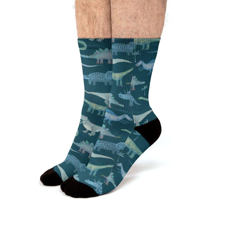 Dinosaurs Dark Men's Socks by Nic Squirrell