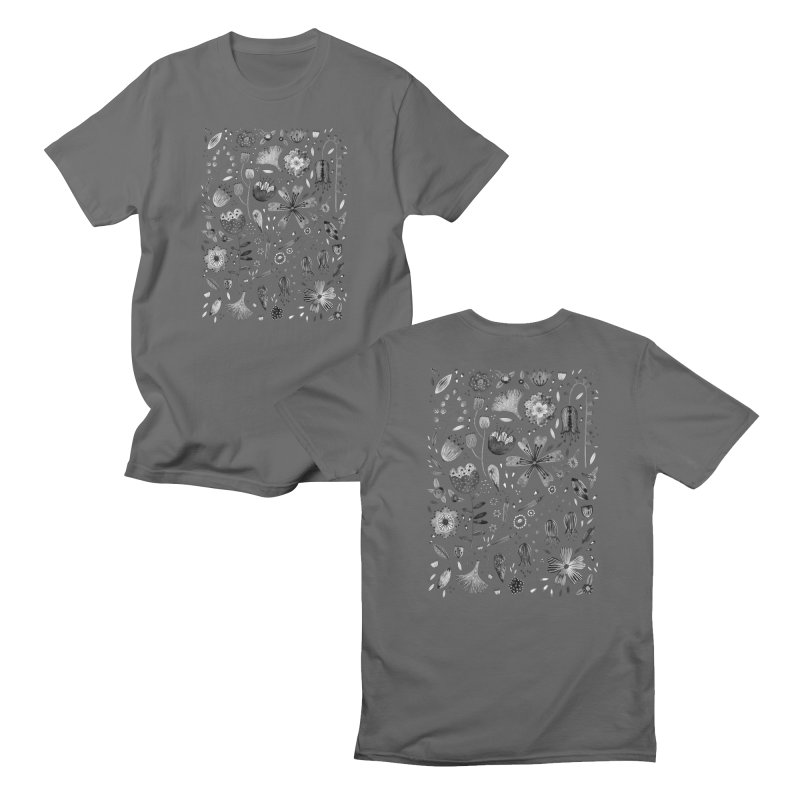 Ink Flowers Men's T-Shirt by Nic Squirrell
