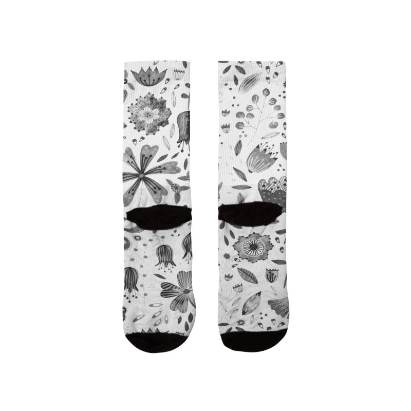 Ink Flowers Women's Socks by Nic Squirrell
