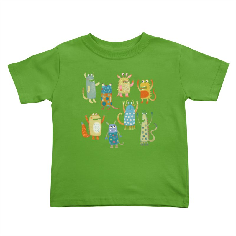 Monsters Kids Toddler T-Shirt by Nic Squirrell