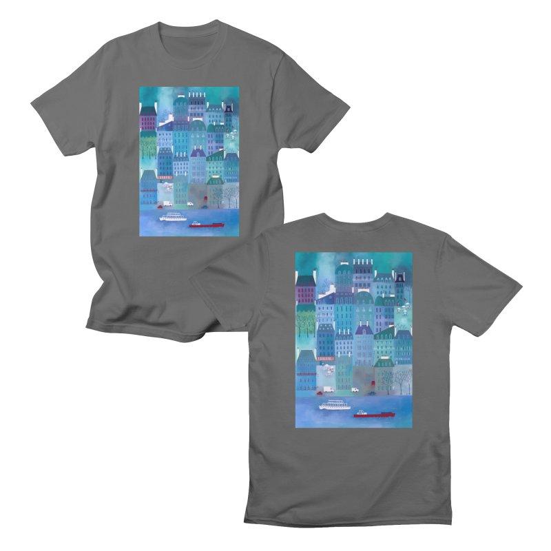 Paris Blues Men's T-Shirt by Nic Squirrell