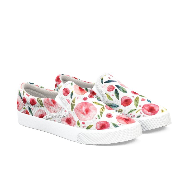 Watercolor Peonies Women's Shoes by Nic Squirrell