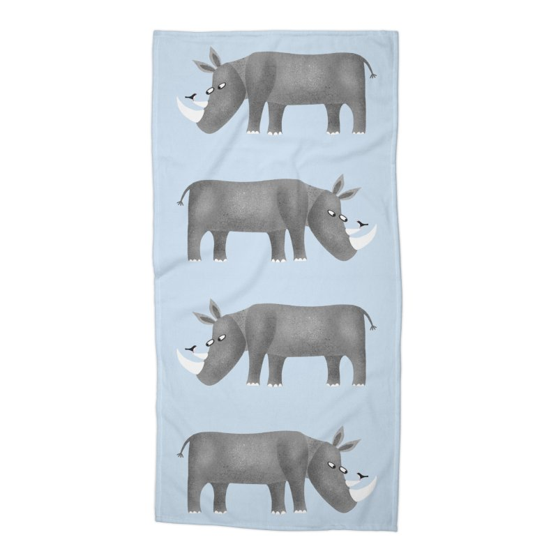 Rhino Accessories Beach Towel by Nic Squirrell