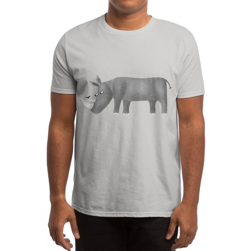 Rhino Men's T-Shirt by Nic Squirrell