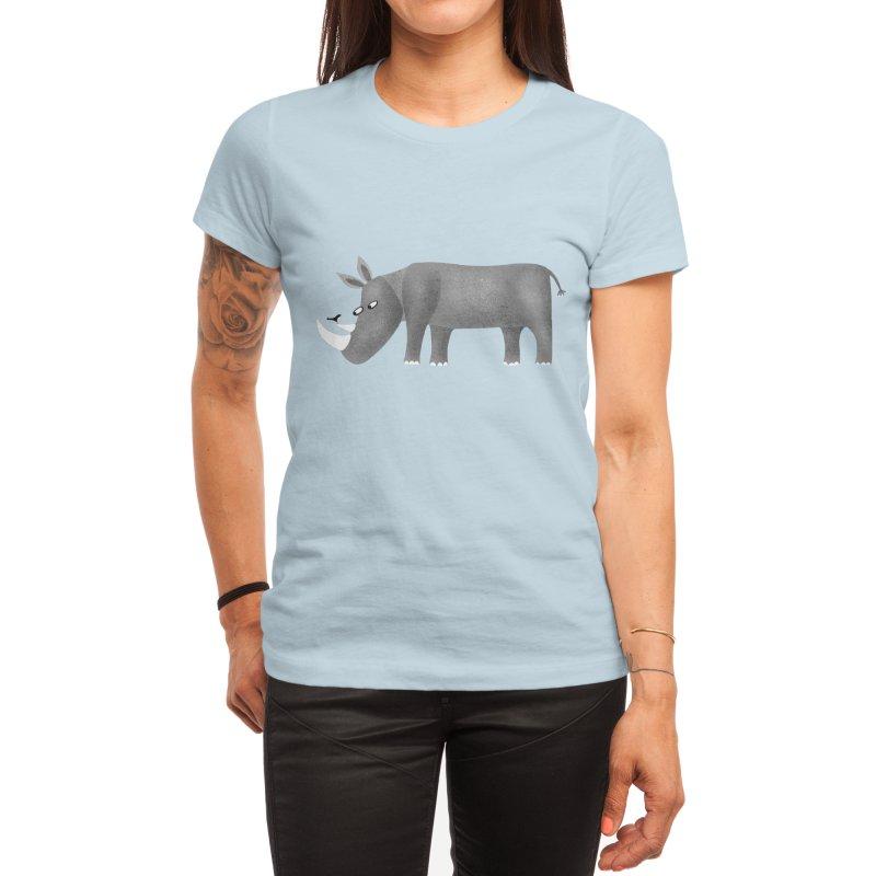 Rhino Women's T-Shirt by Nic Squirrell