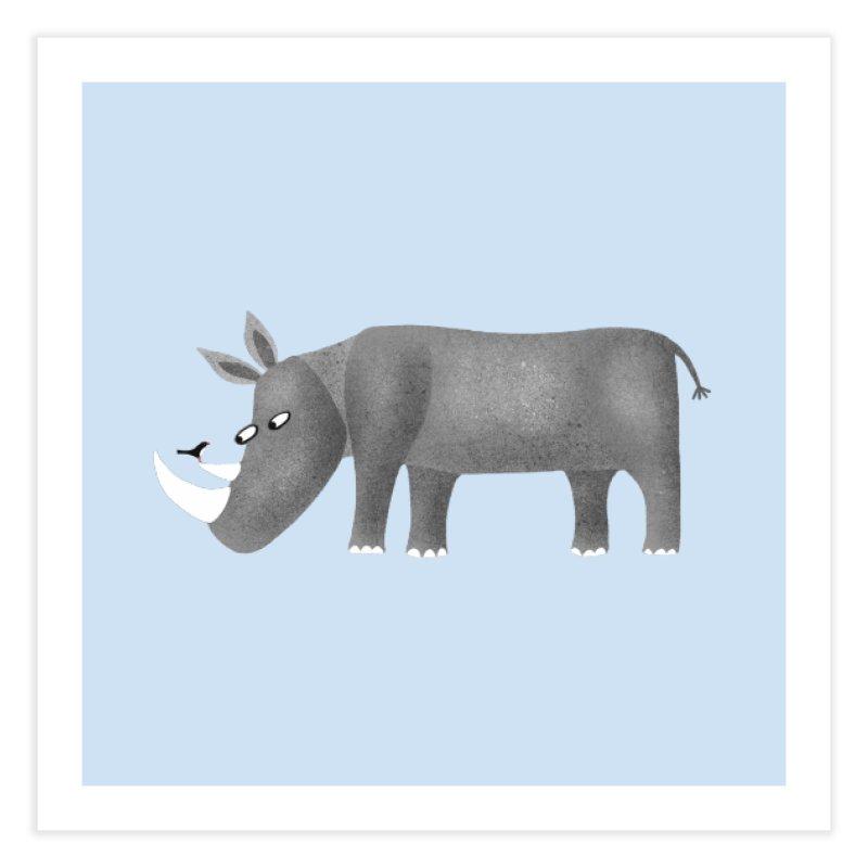 Rhino Home Fine Art Print by Nic Squirrell