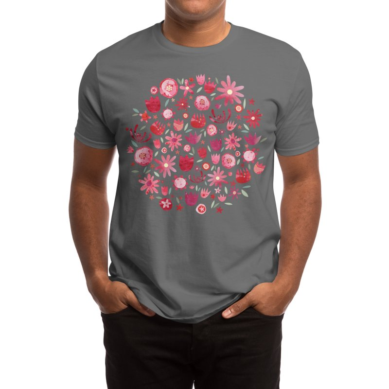 Summer Flowers at Night Men's T-Shirt by Nic Squirrell