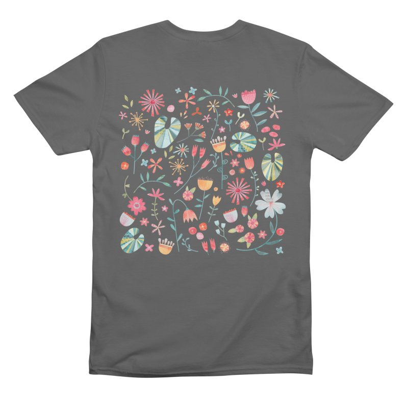 Wayside Flowers Men's T-Shirt by Nic Squirrell