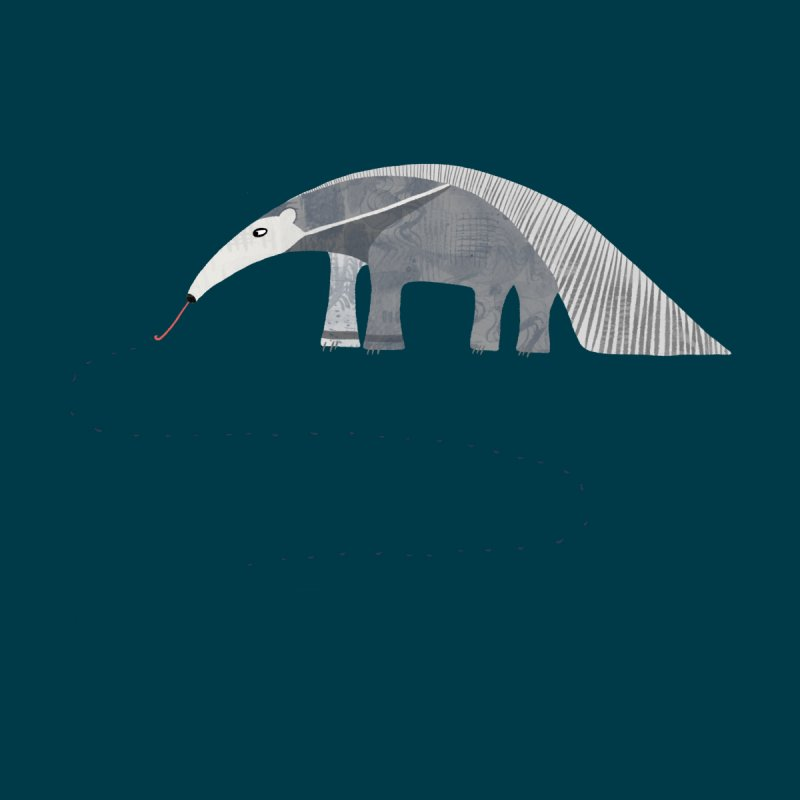 Giant Anteater Men's T-Shirt by Nic Squirrell