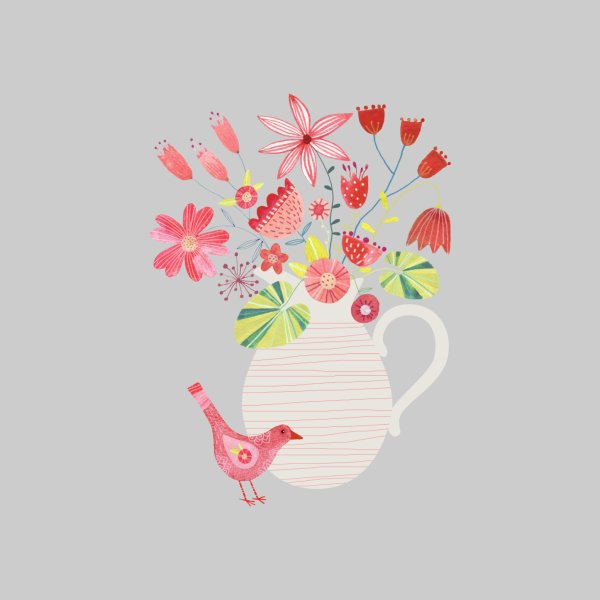 Design for Bird with a Jug of Flowers