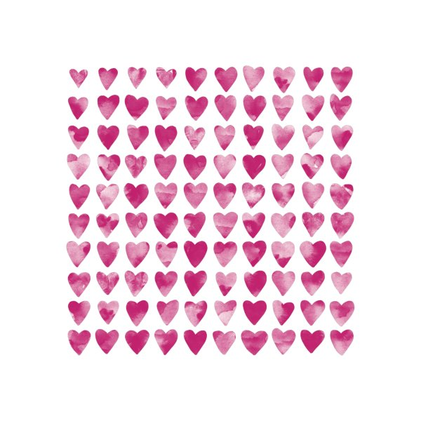 image for Pink Watercolor Hearts