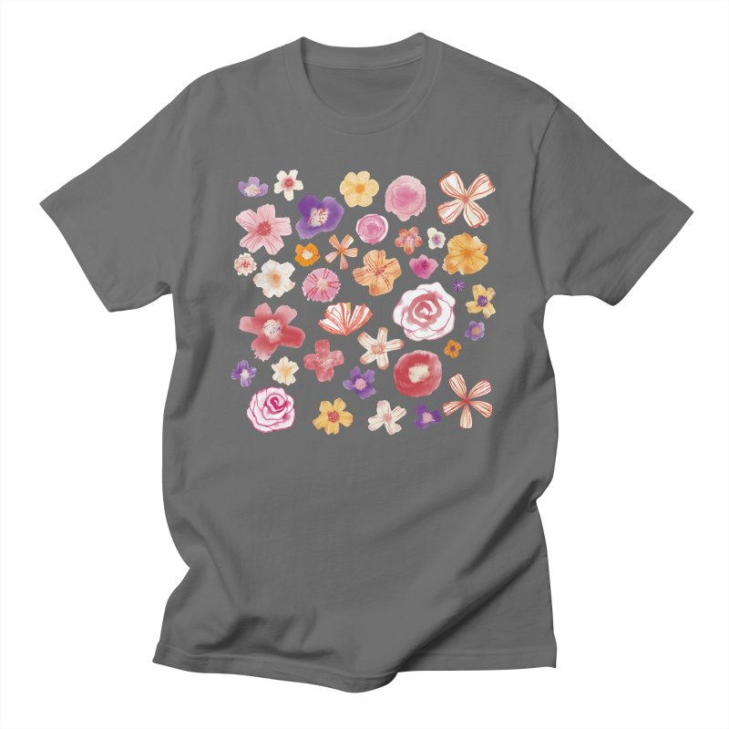 Fresh Watercolor Flowers Sage All Gender T-Shirt by Nic Squirrell