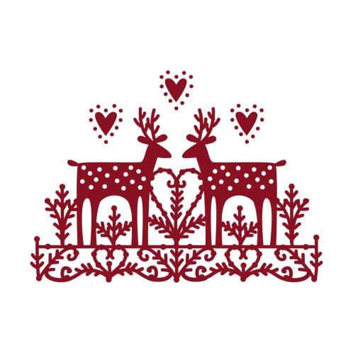 Design for Scandinavian Reindeer Papercut