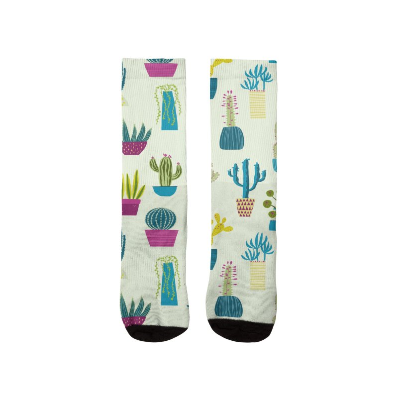 Cactus Cacti Succulent Art for Gardeners Women's Socks by Nic Squirrell