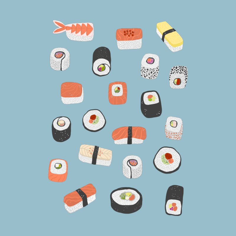 Sushi Roll Maki Nigiri Japanese Asian Food Art Home Rug by Nic Squirrell