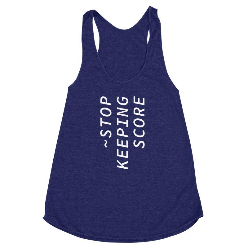 Stop Keeping Score Women's Racerback Triblend Tank by Nina Christensen Women's Wear