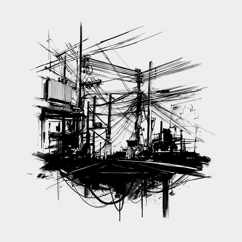 Electric Street Men's T-Shirt by NinjaJo's Artist Shop