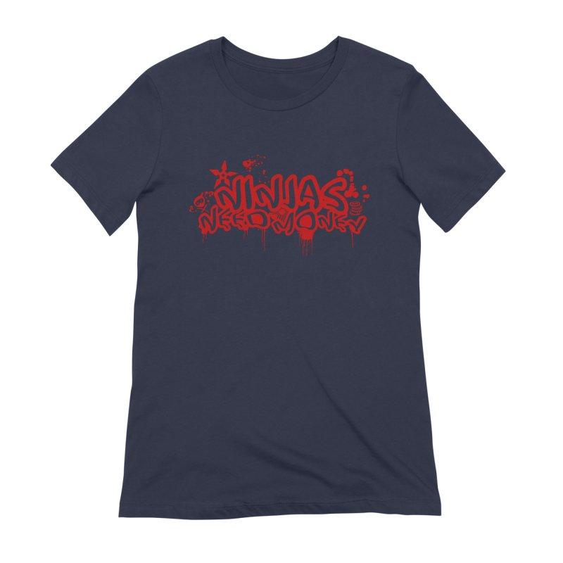 Urban Ninja Red Women's Extra Soft T-Shirt by Ninjas Need Money's Artist Shop