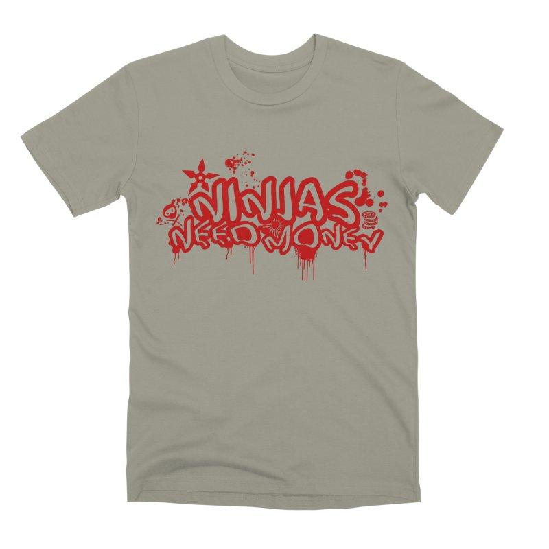 Urban Ninja Red Men's Premium T-Shirt by Ninjas Need Money's Artist Shop