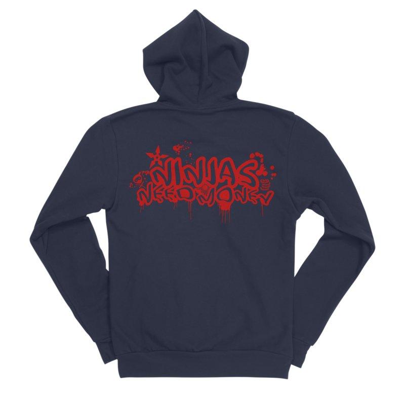 Urban Ninja Red Women's Sponge Fleece Zip-Up Hoody by Ninjas Need Money's Artist Shop