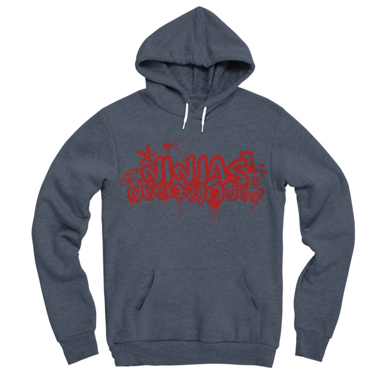Urban Ninja Red Men's Sponge Fleece Pullover Hoody by Ninjas Need Money's Artist Shop