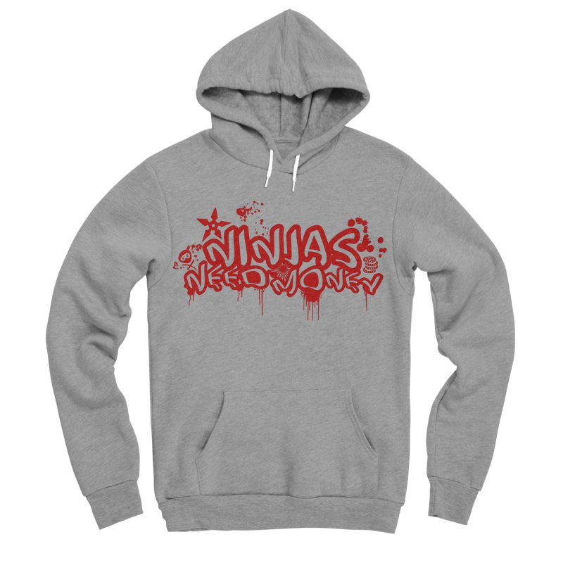 Urban Ninja Red Women's Sponge Fleece Pullover Hoody by Ninjas Need Money's Artist Shop