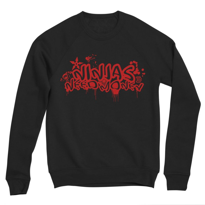 Urban Ninja Red Men's Sponge Fleece Sweatshirt by Ninjas Need Money's Artist Shop