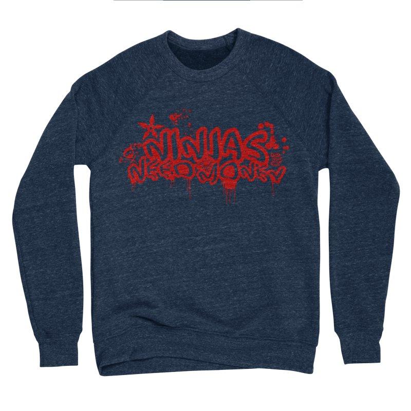 Urban Ninja Red Women's Sponge Fleece Sweatshirt by Ninjas Need Money's Artist Shop