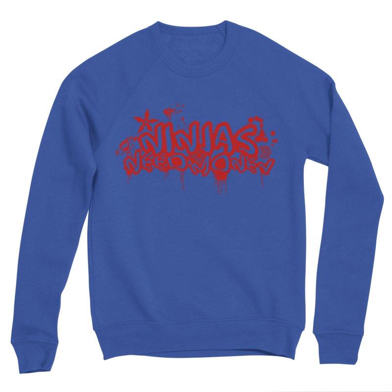 Urban Ninja Red Men's Sponge Fleece Sweatshirt by Ninjas Need Money's Artist Shop
