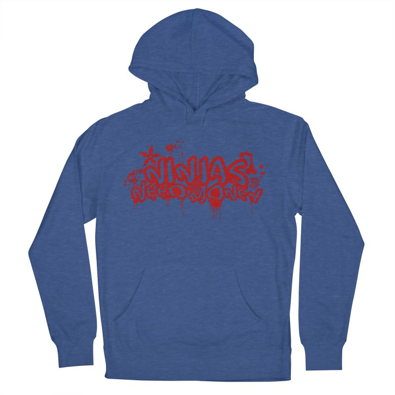 Urban Ninja Red Women's French Terry Pullover Hoody by Ninjas Need Money's Artist Shop