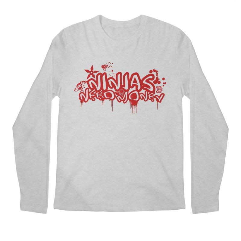 Urban Ninja Red Men's Regular Longsleeve T-Shirt by Ninjas Need Money's Artist Shop