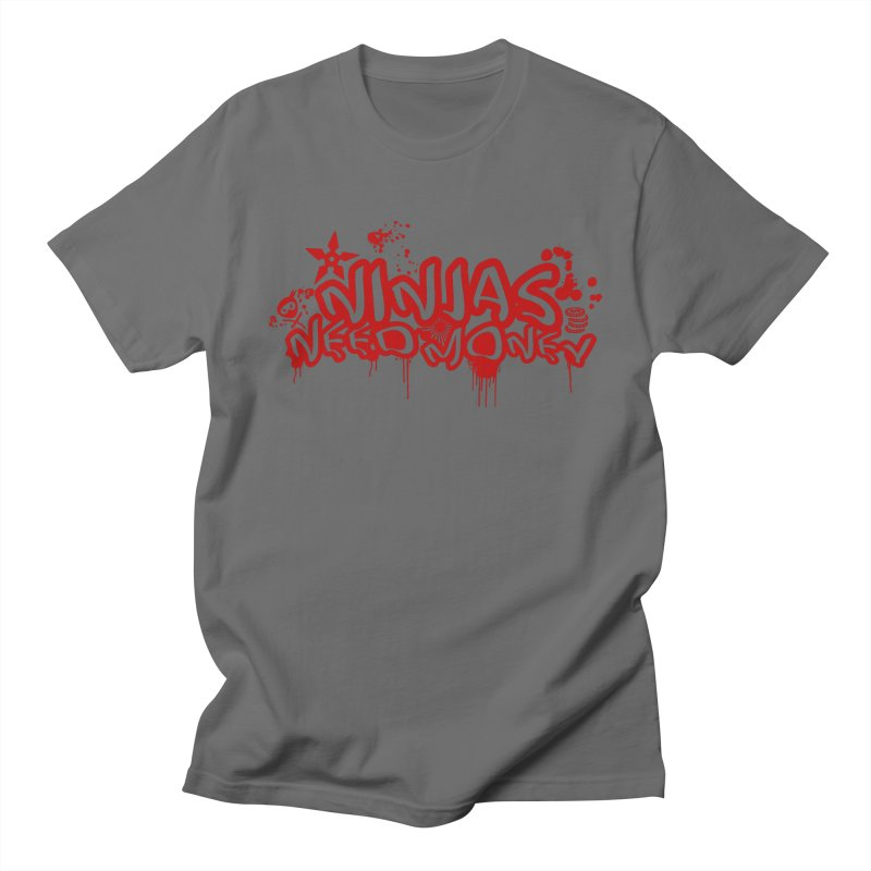 Urban Ninja Red Men's T-Shirt by Ninjas Need Money's Artist Shop
