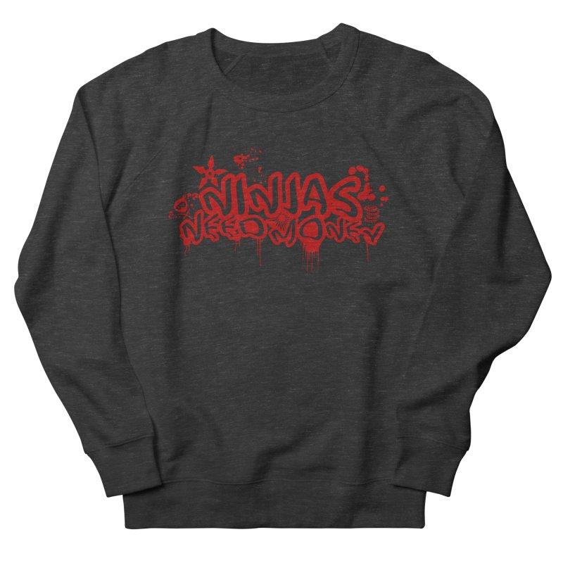 Urban Ninja Red Men's Sweatshirt by Ninjas Need Money's Artist Shop