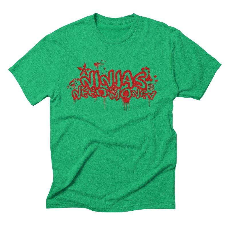 Urban Ninja Red Men's Triblend T-Shirt by Ninjas Need Money's Artist Shop
