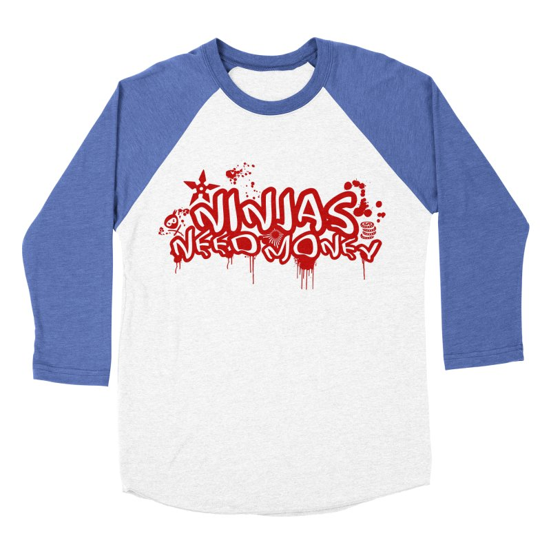 Urban Ninja Red Women's Baseball Triblend Longsleeve T-Shirt by Ninjas Need Money's Artist Shop