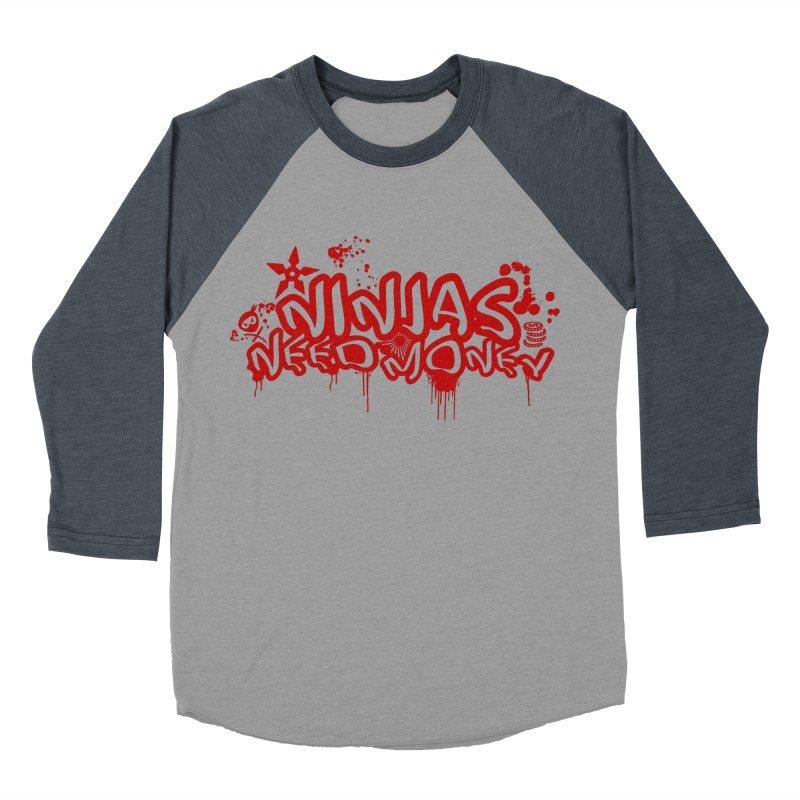 Urban Ninja Red Men's Baseball Triblend Longsleeve T-Shirt by Ninjas Need Money's Artist Shop