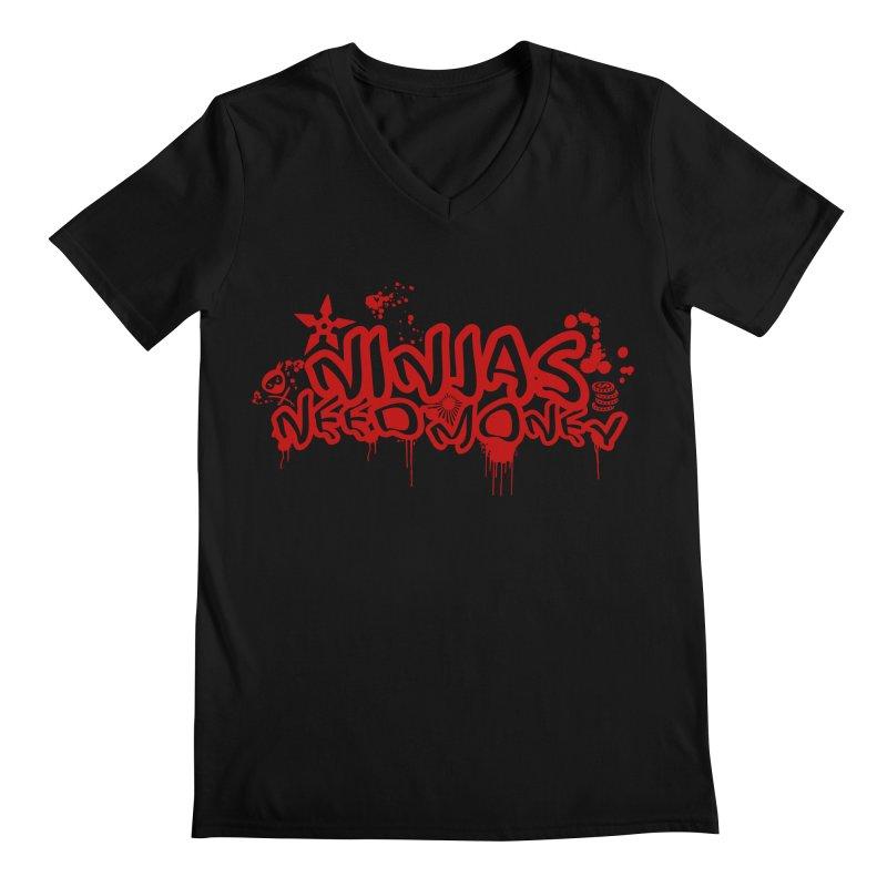 Urban Ninja Red Men's Regular V-Neck by Ninjas Need Money's Artist Shop