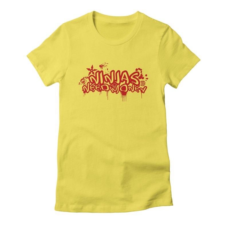 Urban Ninja Red Women's Fitted T-Shirt by Ninjas Need Money's Artist Shop