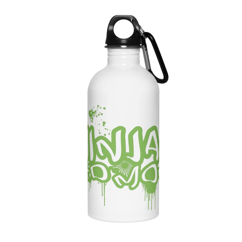 Urban Ninja Green Accessories Water Bottle by Ninjas Need Money's Artist Shop
