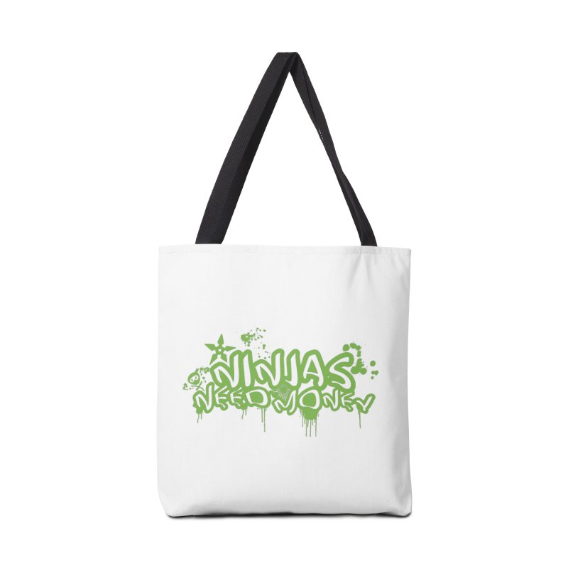 Urban Ninja Green Accessories Tote Bag Bag by Ninjas Need Money's Artist Shop