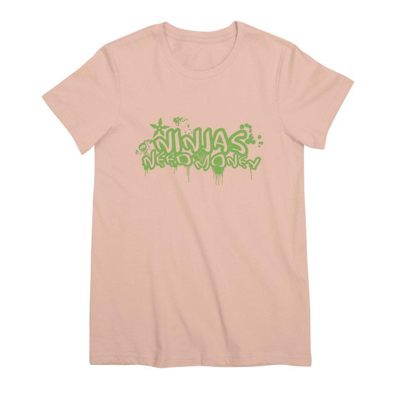 Urban Ninja Green Women's Premium T-Shirt by Ninjas Need Money's Artist Shop