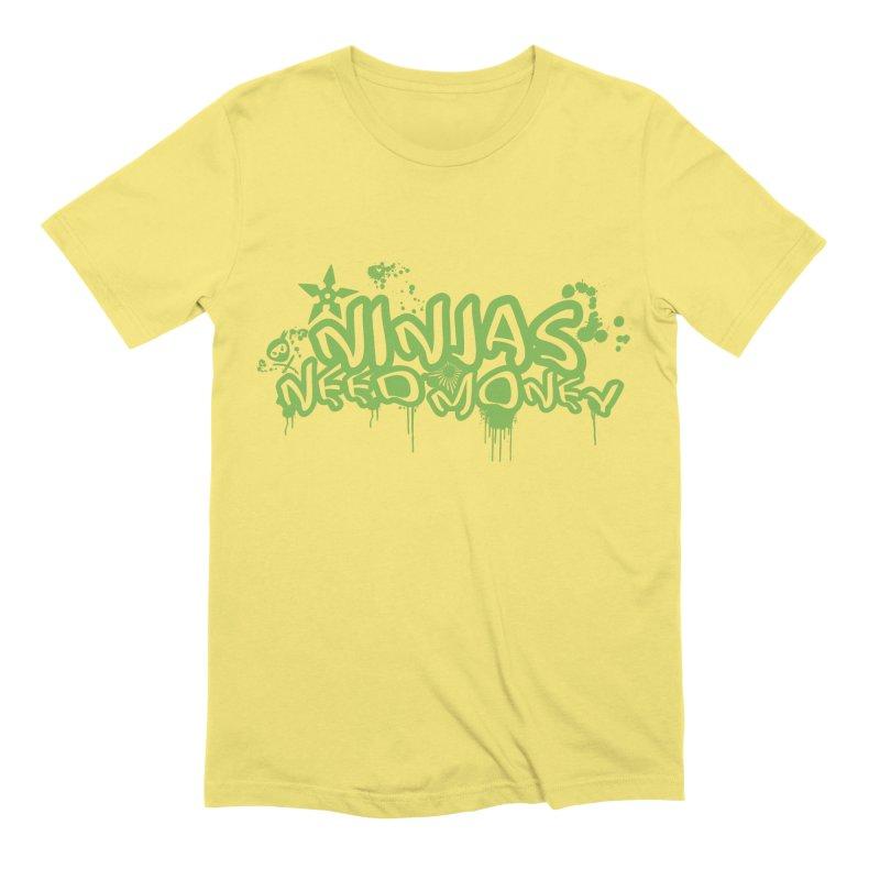 Urban Ninja Green Men's Extra Soft T-Shirt by Ninjas Need Money's Artist Shop
