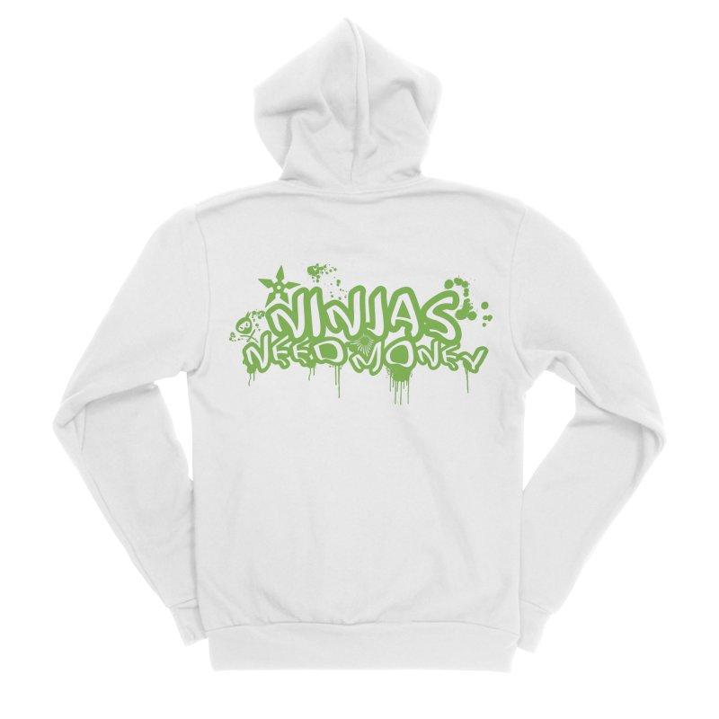 Urban Ninja Green Men's Sponge Fleece Zip-Up Hoody by Ninjas Need Money's Artist Shop